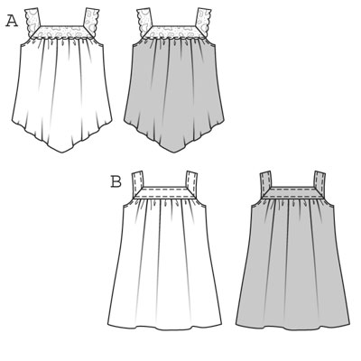 Выкройка Burda (Бурда) 9580 - Топ, платье (снята с производства