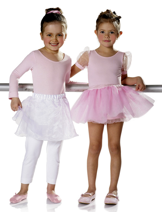 Burda Leotard ballet skirt leggings 9629