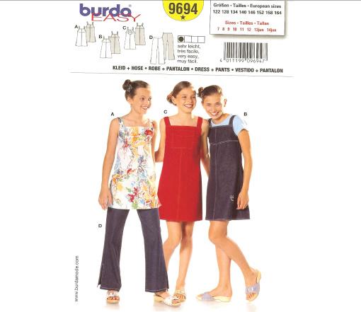 Burda Child's Dress & Pants 9694