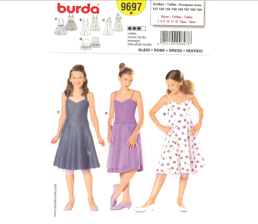 Burda Child's Formal Dress 9697
