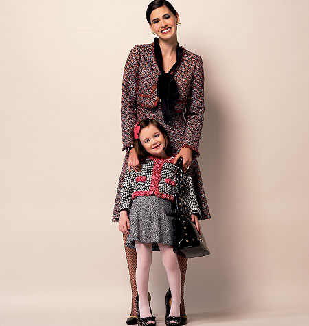 Butterick Children's/Girls' Jacket, Cardigan, Skirt and Pants 5844