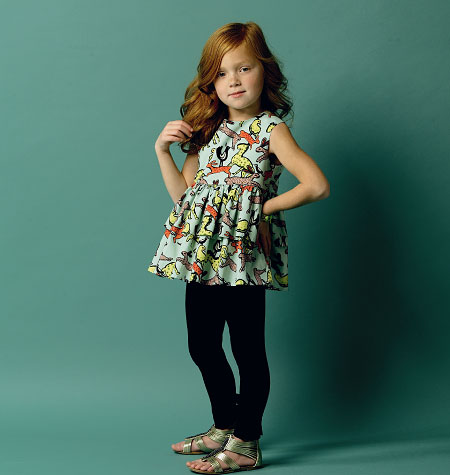Butterick Children's/Girls' Top, Tunic Dress, Belt and Leggings 5877