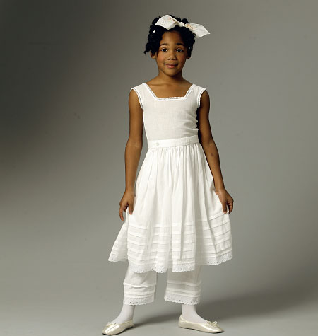 Butterick Children's/Girls' Drawers, Underskirt and Hoop Skirt 5901