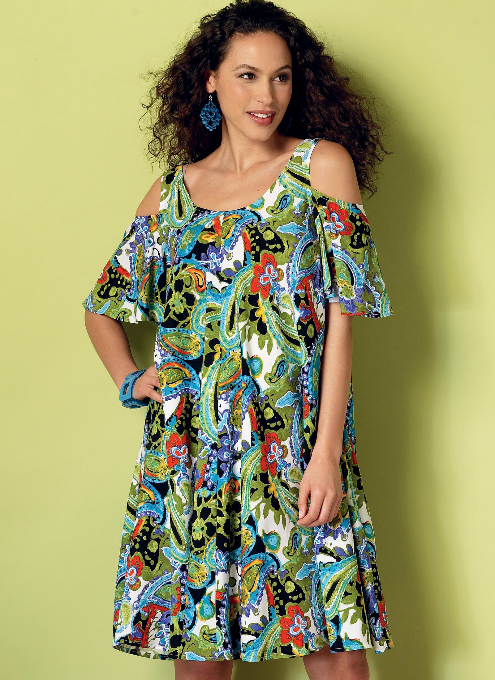 Butterick 6350 Misses Sleeveless And Cold Shoulder Tent
