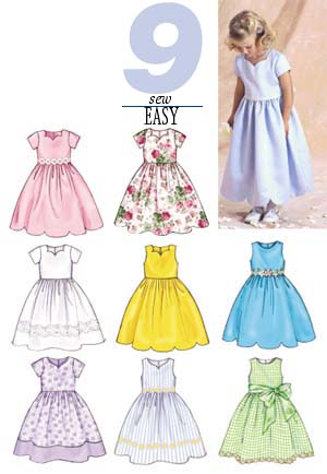 Butterick Children's Dress 3350