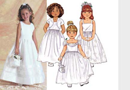Butterick Girls\' flower girl dress 3351
