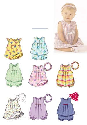 Butterick 3405 Baby Dresses And Romper Sewing Pattern