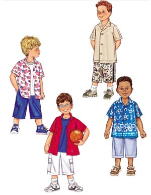 Butterick Boy's shirt and shorts 3475