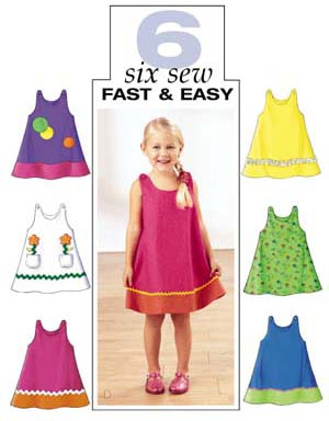 Butterick Girls A Line Dress 3772