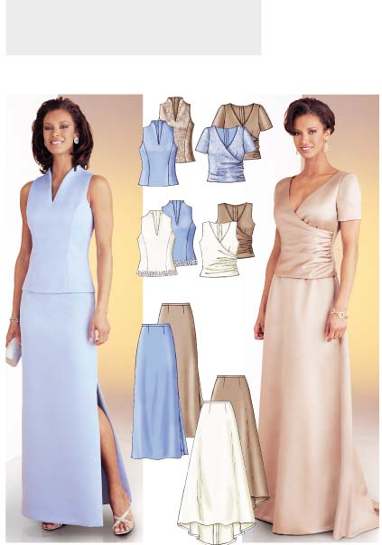 Butterick 3843:  Top and Skirt 3843
