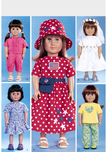 Butterick AG doll clothes 3875