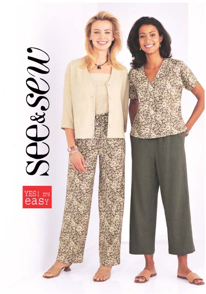 Butterick Misses Top, Jacket, Pants, Bl. 3886