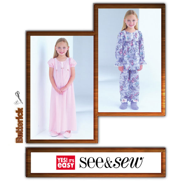 Butterick girls nightgown and jammies 4005