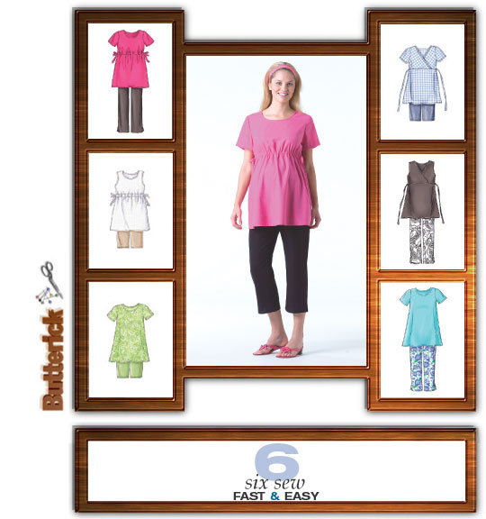 Butterick  Maternity Tops, Shorts, Pants 4201