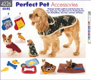 Butterick Dog coat, bed, mat and toys 4226