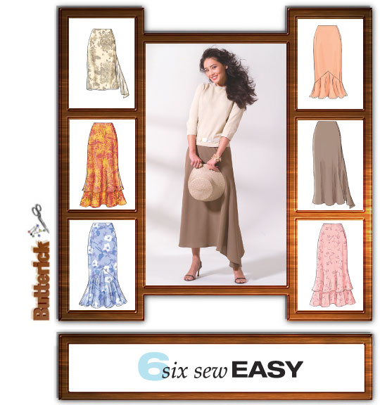 Butterick Misses' Skirt, Six Variations 4233