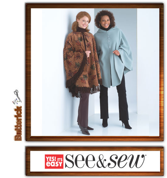 Butterick Misses Poncho 4266