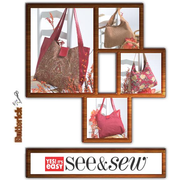 Butterick See & Sew handbags 4271