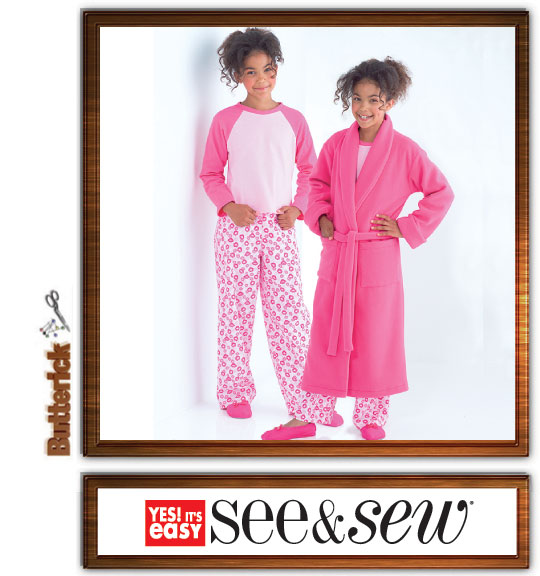 Butterick Sew & Sew girls robe & pjs 4322