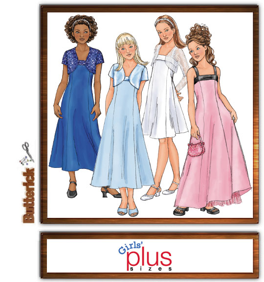 Butterick Girls Dress & Jacket 4385