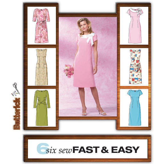 Butterick Misses Dress -Very Easy 4386