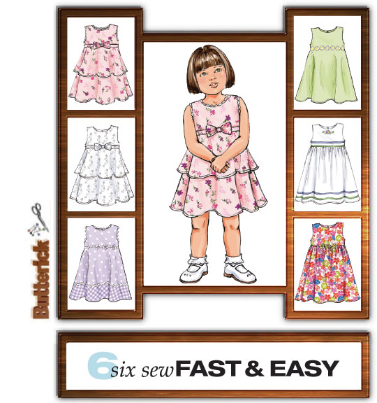 Butterick six sew fast and easy 4434