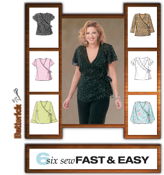 Butterick Front Wrap-Side Tie Blouses 4469