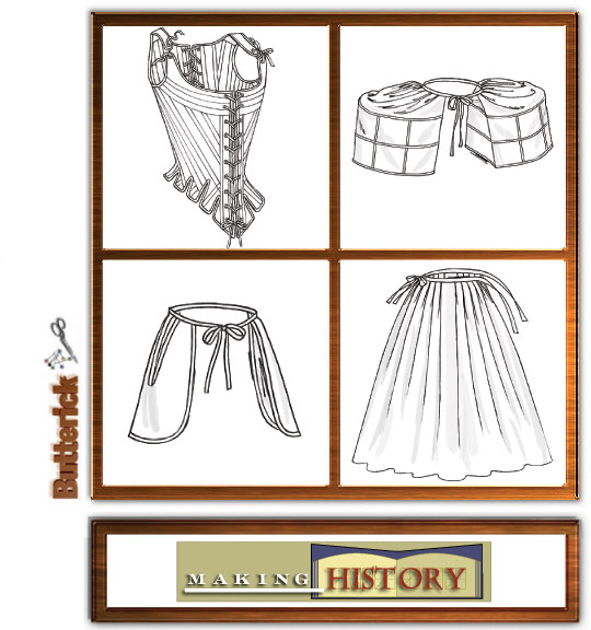 Butterick Misses Historical Underpinning 4484