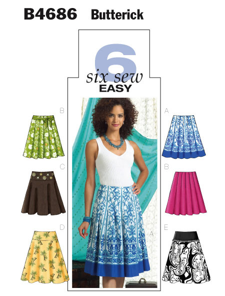 Butterick 6 sew easy 4686