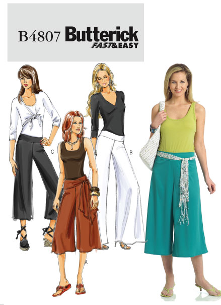 Butterick Knit Gauchos 4807