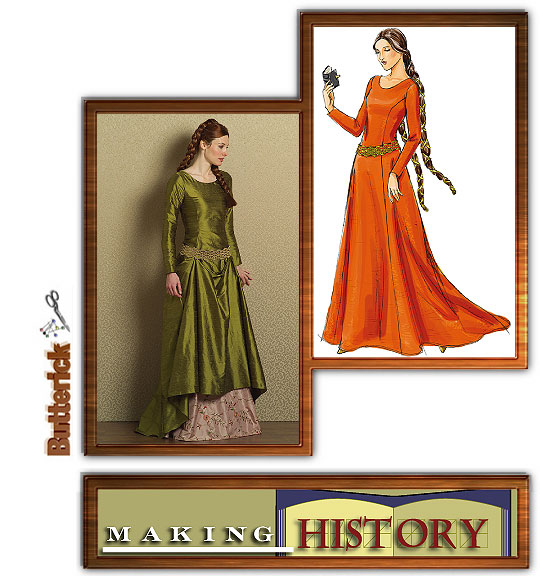 Butterick Misses Medieval Dress and Belt 4827