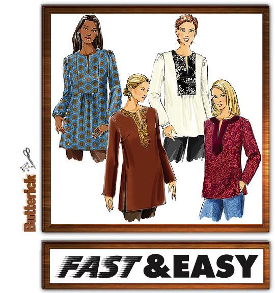 Butterick Fast & Easy Tunics 4856