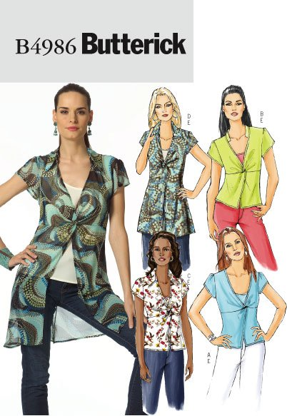 Butterick Misses' Top & Camisole 4986