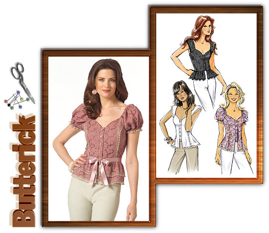 Butterick Princess blouse w/peplum 4988