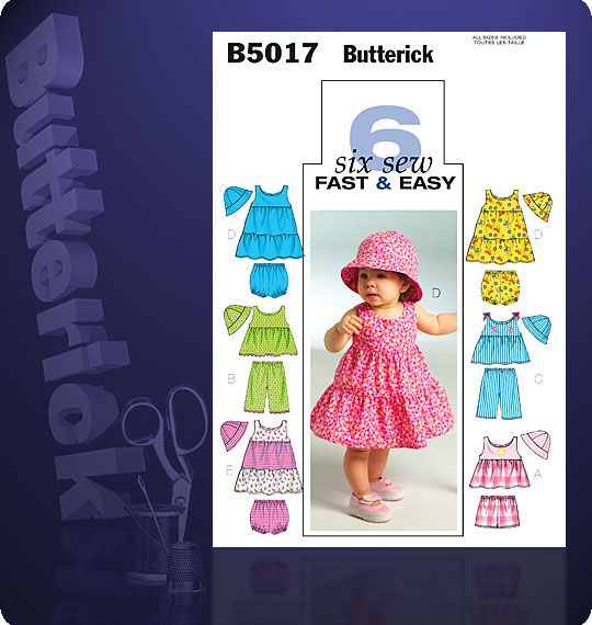 Butterick Infant Pullover Dress 5017
