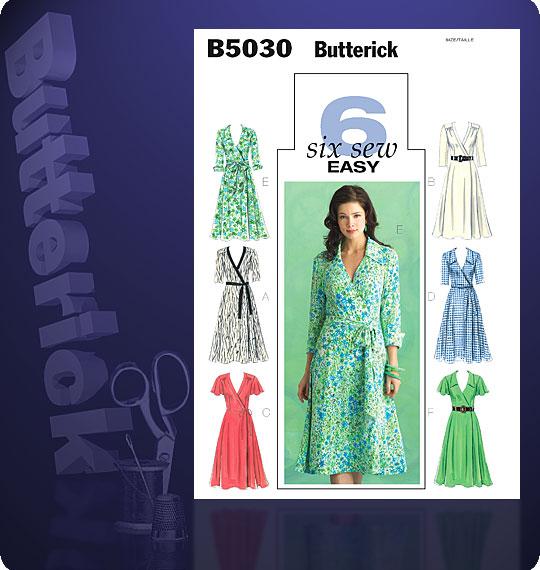 Butterick Misses Dress, Belt and Sash 5030