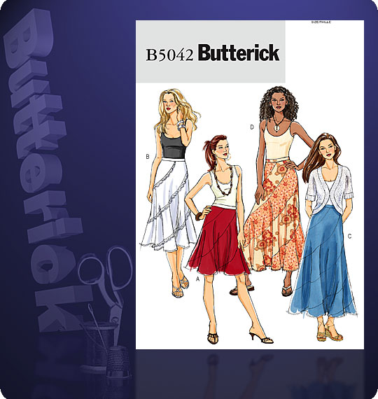 Butterick Swirl Skirt 5042