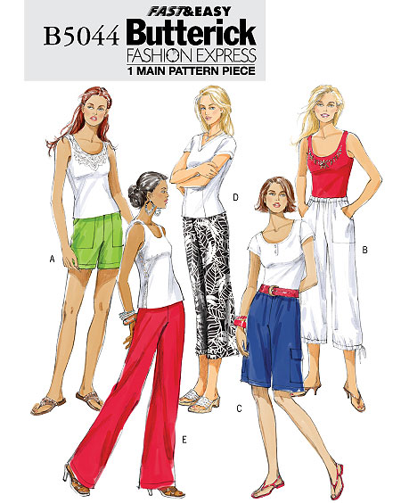 Butterick MISSES' SHORTS AND PANTS 5044