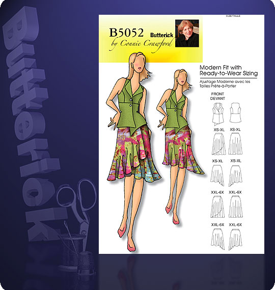 Butterick vest and skirt 5052