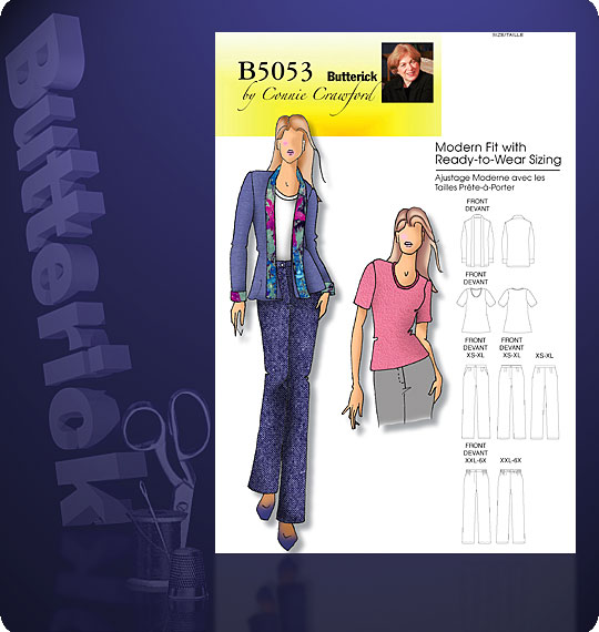 Butterick Jacket with Scarf Collar 5053