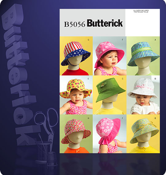 Butterick INFANTS'/TODDLERS' HATS 5056