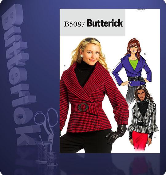 Butterick Front wrap jacket 5087