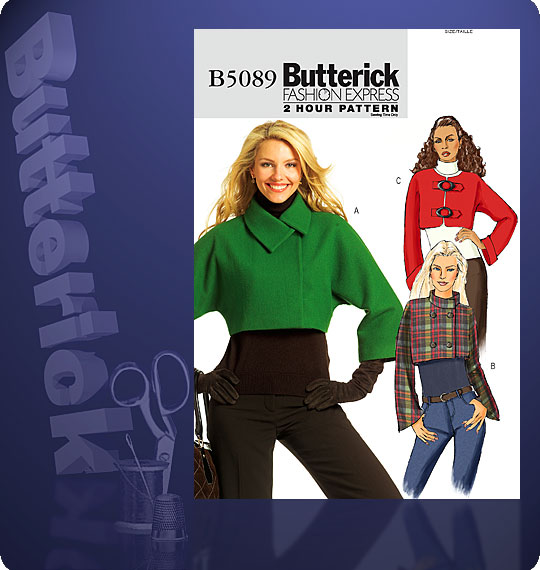 Butterick Misses Cropped Jacket 5089