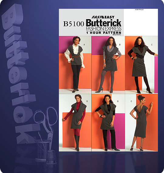 Butterick MISSES' TUNIC, BELT AND DRESS 5100