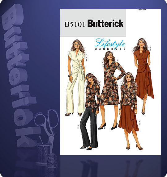 Butterick Wrap top & pants 5101