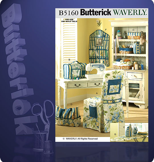 Butterick Waverly sewing room accessorie 5160