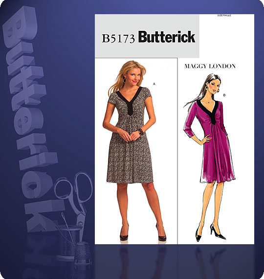 Butterick Maggy London knit dress 5173