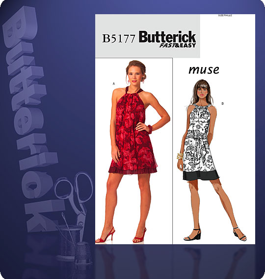 Butterick MISSES PETITE DRESS AND TIES 5177