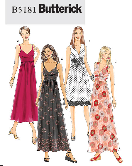 Butterick Misses Dress 5181
