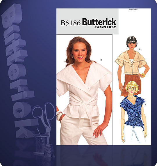 Butterick Semi-fitted top 5186